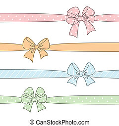 Color bows and ribbons