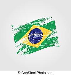 color brazil national flag grunge style eps10