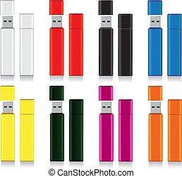 Color bright flash drive