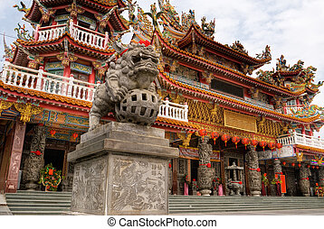 Color building of classic religious temple of China