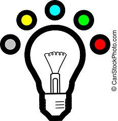 Color bulb idea