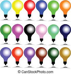 color bulb illustration