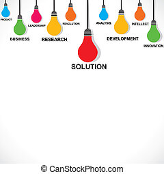color bulb with business word concept stock vector