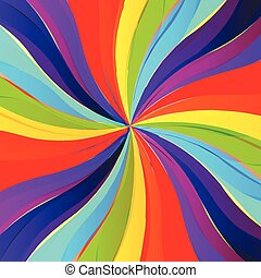 Color burst rainbow background
