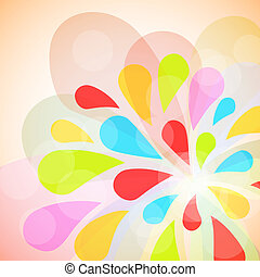 Color burst vector  background.