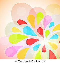Color burst vector  background.