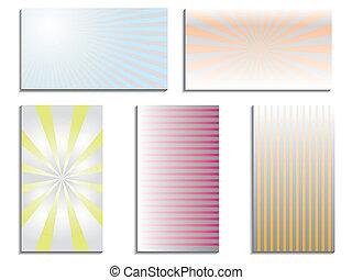 Color business card set
