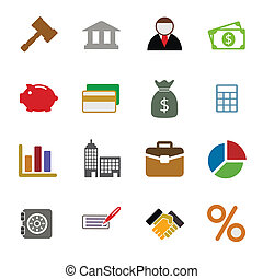 Color Business Icons Set