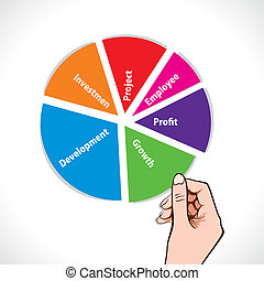 color business pie chart