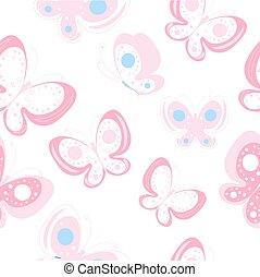 color butterflies, pattern