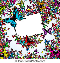 Color butterflies with label for yo