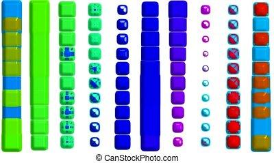 color button dance, music rhythm