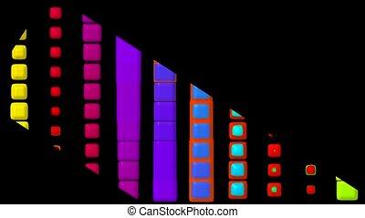 color button dance,music rhythm show