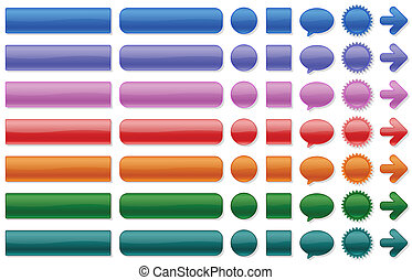color buttons for web