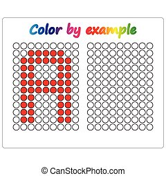 Color by example. Learning alphabet, letters. worksheet for ...