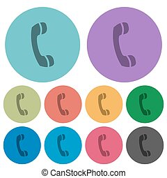 Color call flat icons