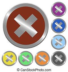 Color cancel buttons