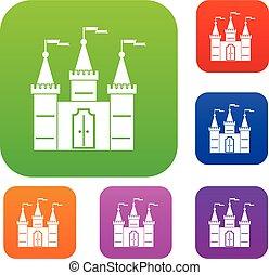 color, castillo, conjunto, colección