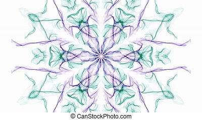 Color changing beautiful watercolor patterns, fractal...