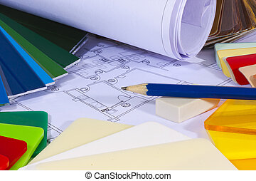 color chart for the construction and architecture