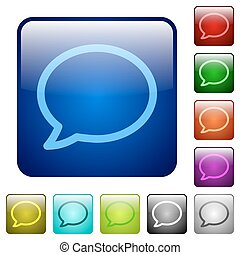 Color chat square buttons