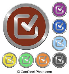 Color checkmark buttons