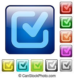 Color checkmark square buttons