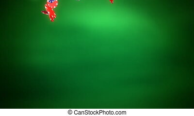 color chips dropping - The falling animation of casino chips...