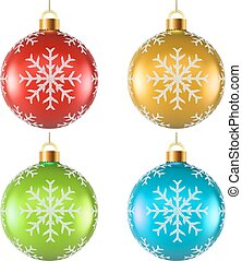 Color Christmas decoration with snowflake shape