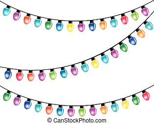 Light Bulbs - Color Christmas Light Bulbs Isolated white ...