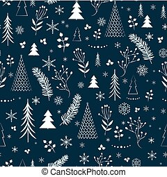 color Christmas pattern
