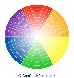 Color circle 6 colors