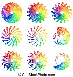Color Circle design elements - Color wheel or color circle...