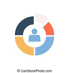 Color circle divided into segments. Market Segmentation...