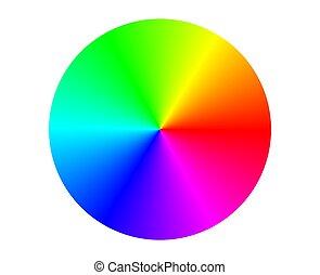 Color Circle - Illustration of a RGB color circle