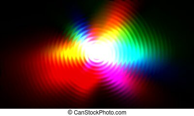 color circle light with ripple