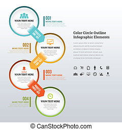 Color Circle Outline Infographic