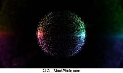color circle particle background