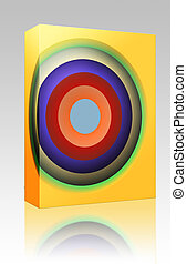 Color circles box package