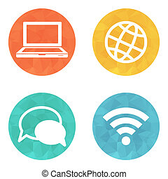 color circular communication icons
