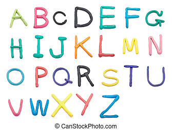 clay font a to z - color clay font a to z hand writing style