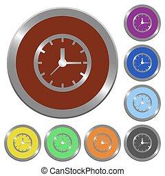 Color clock buttons