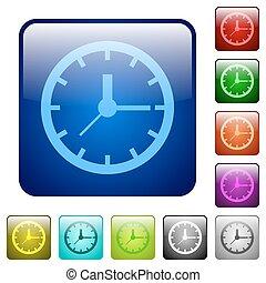 Color clock square buttons