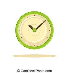 Color Clock Template Banner Vector Illustration
