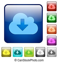 Color cloud download square buttons
