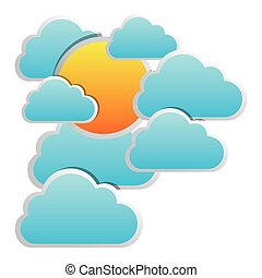 color clouds covering the sun icon