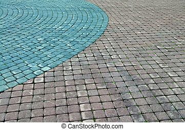 Color cobblestone pavement useful for background