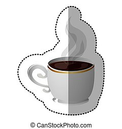 color coffee cup icon