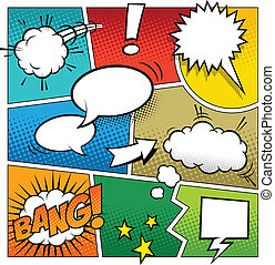 Color Comic Book Page Template - A high detail vector mockup...