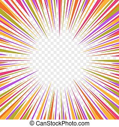 Color Comics Radial Speed Lines graphic effects on...